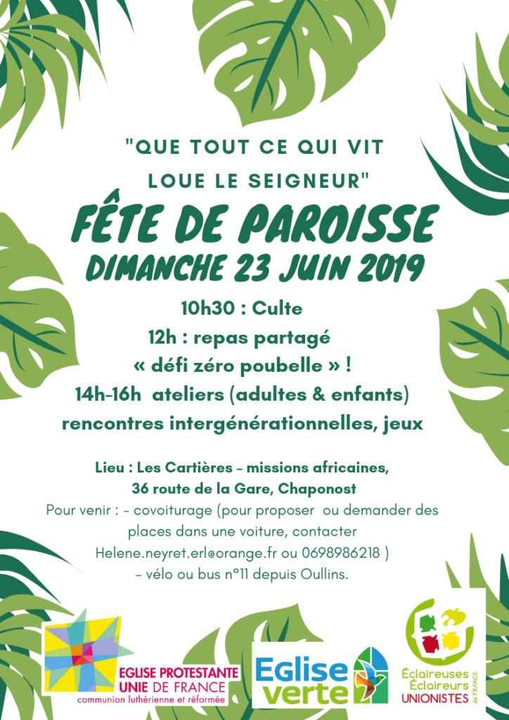 Fête de paroisse 2019 - Lyon Rive Gauche