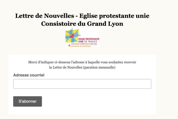 Eglise protestante unie Consistoire du Grand Lyon